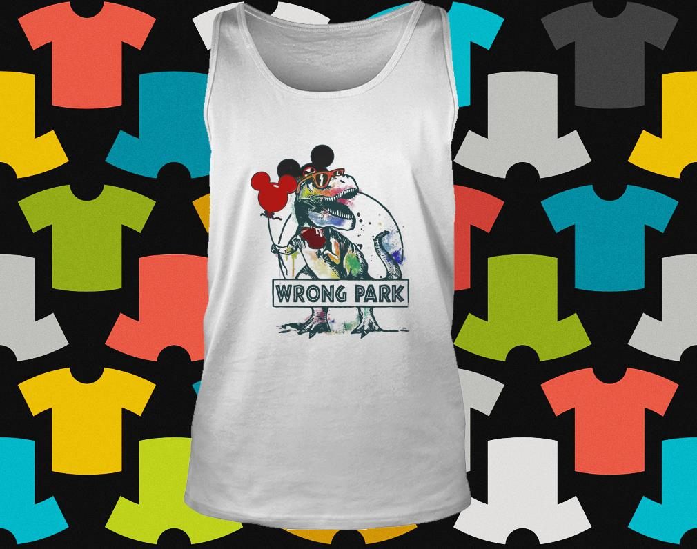 Dinosaur T-rex and Mickey Mouse wrong Park tank top