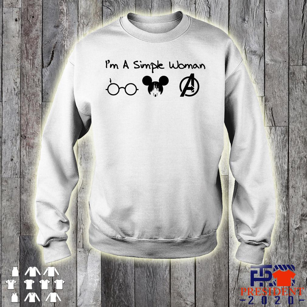 I'm A Simple Woman I Love Harry Potter Mickey And Avengers sweater