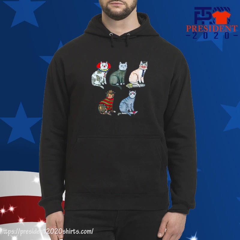 Pennywise Jason Voorhees Michael Myers Freddy Krueger Cat Version hoodie