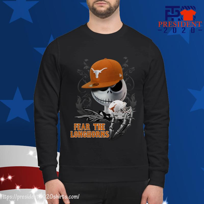 Jack Skellington Fear The Longhorns Sweater
