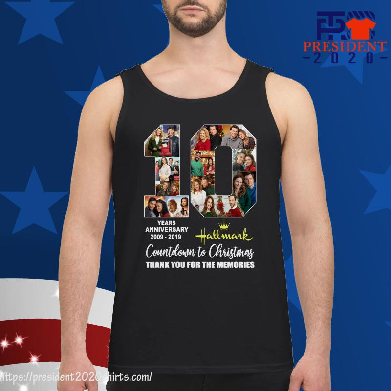 10 Years anniversary of Hallmark countdown to christmas thank you for the memories tank top