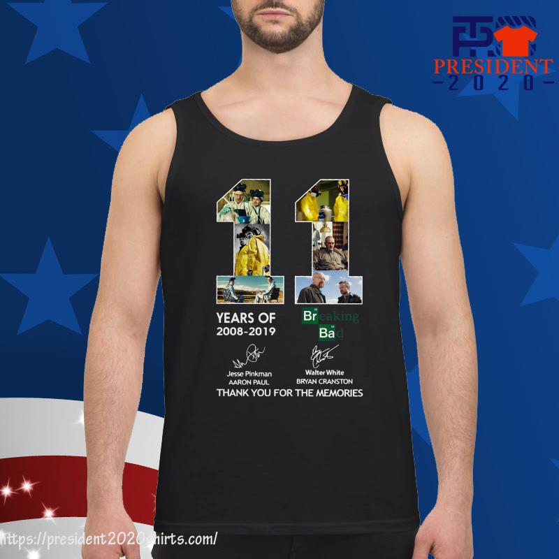11 Years of Breaking Bad thank you for the memories tank top
