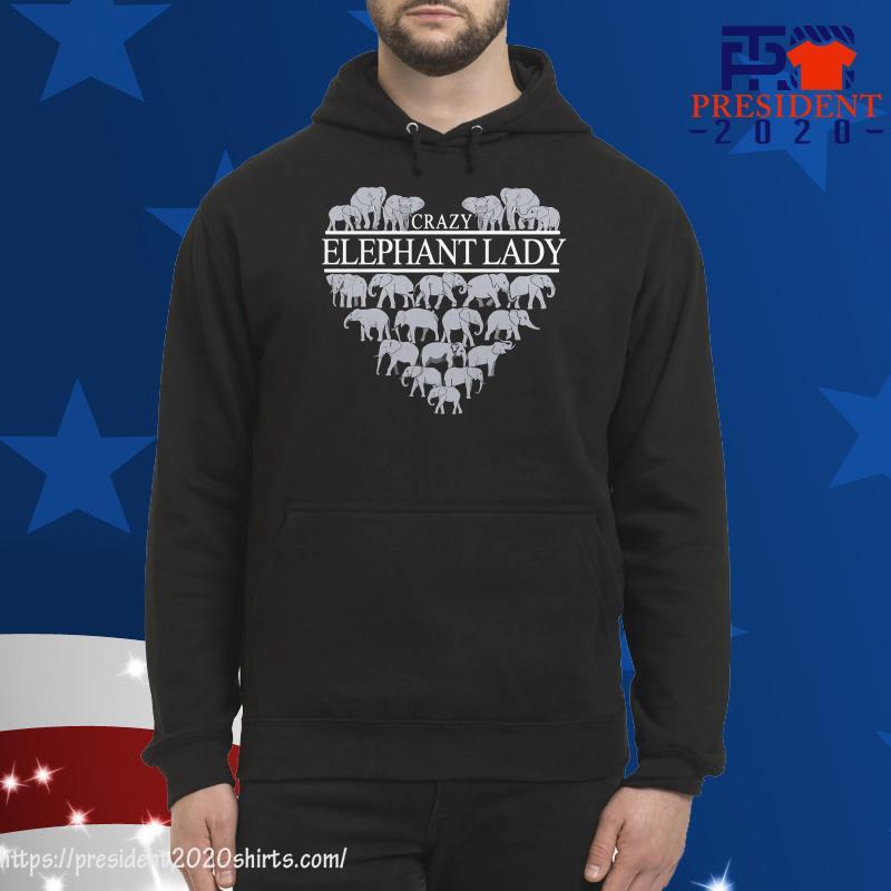 Crazy Elephant Lady hoodie