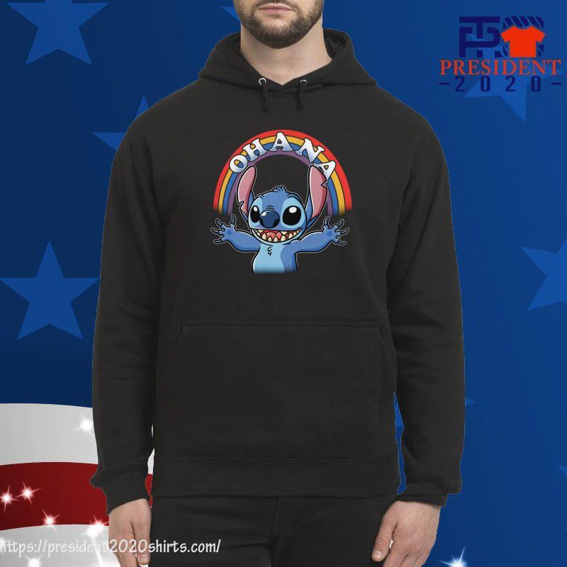 Stitch Rainbow Ohana hoodie