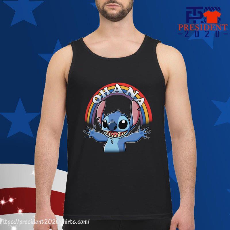 Stitch Rainbow Ohana tank top