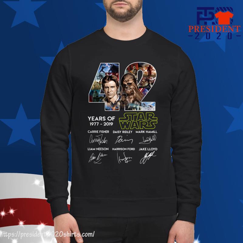 42 Years of Star Wars 1977 2019 Han Solo Chewbacca signature sweater