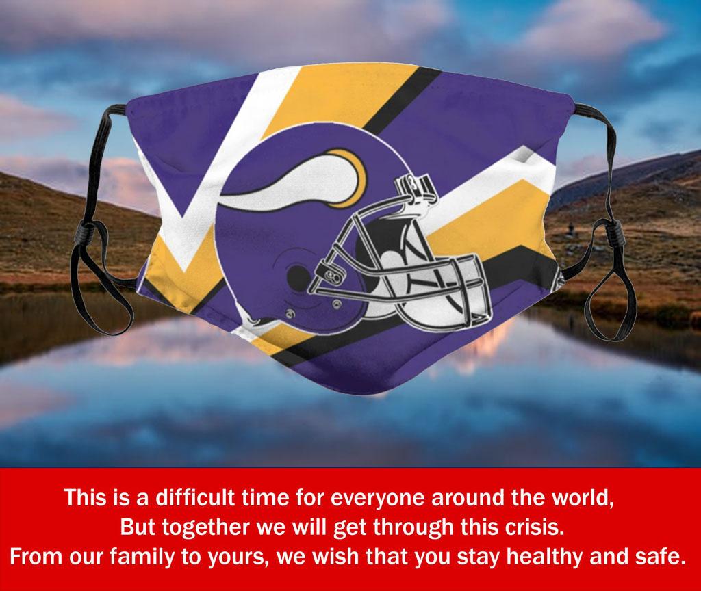 Football Team Minnesota Vikings Face Mask PM2.5 – Filter Face Mask US 2020