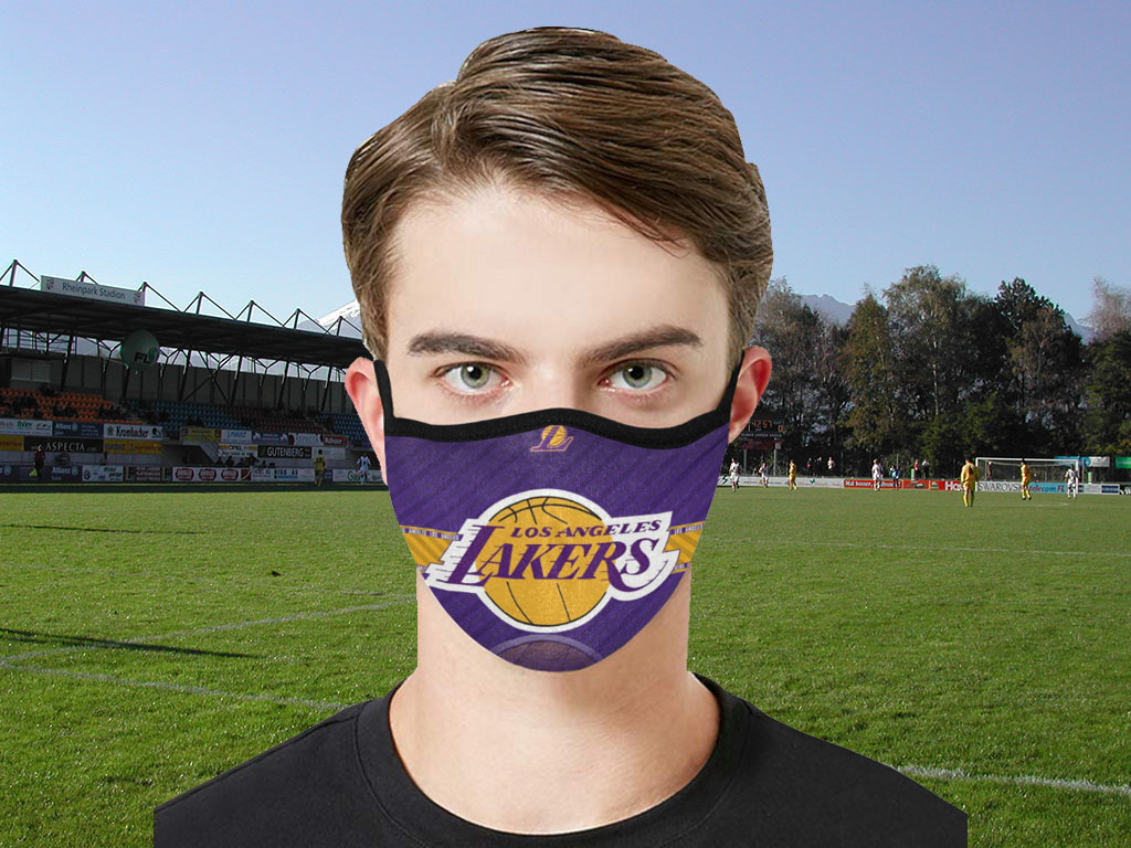 Los Angeles Lakers 2020 cloth face masks Filter PM2.5