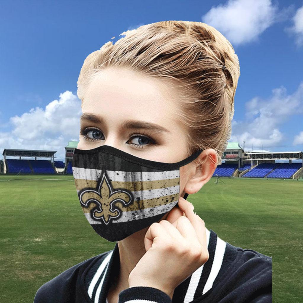 New Orleans Saints Face Mask PM2.5 - New Orleans Saints cloth face masks Filter PM2.5