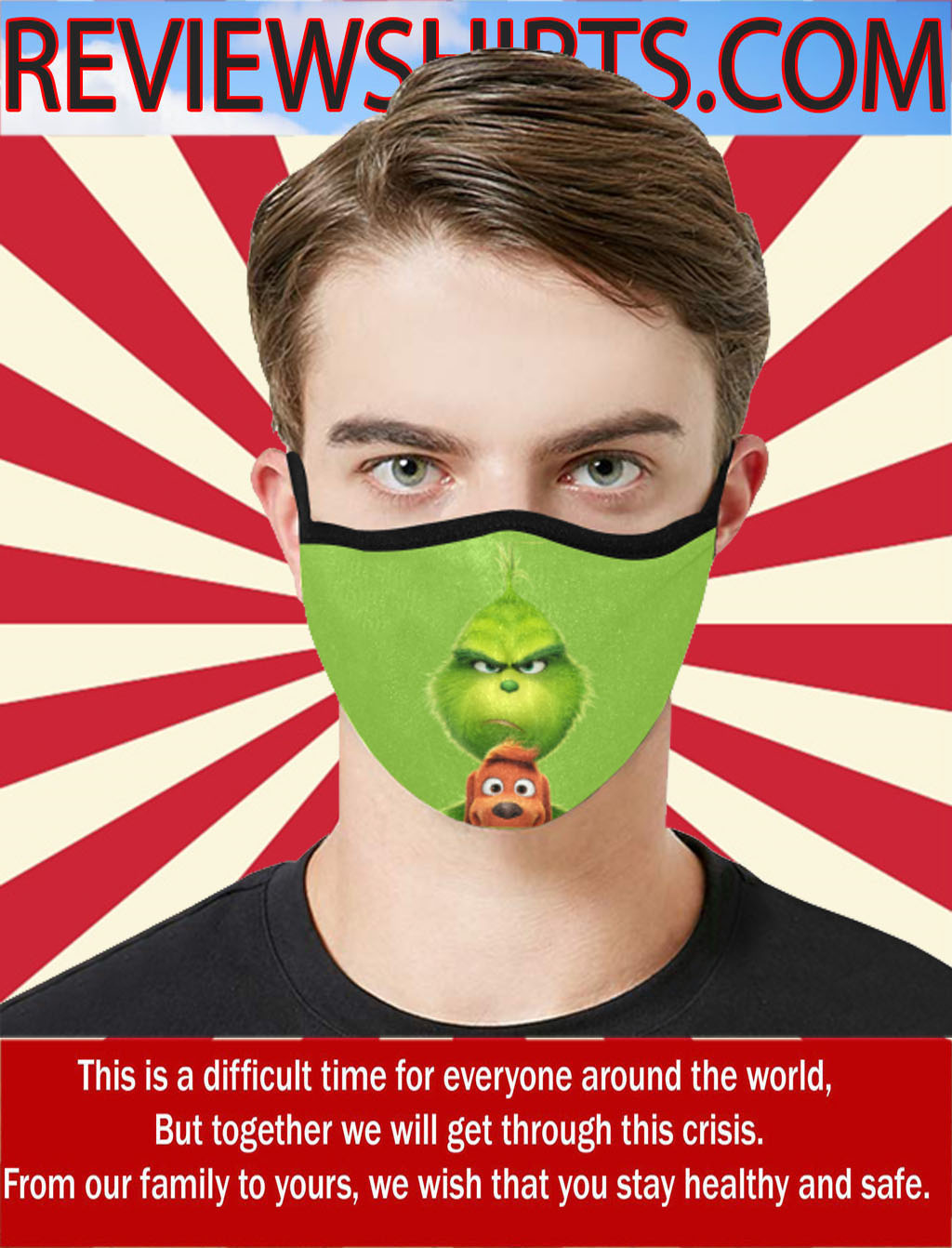 Grinch Funny Cloth Face Mask US