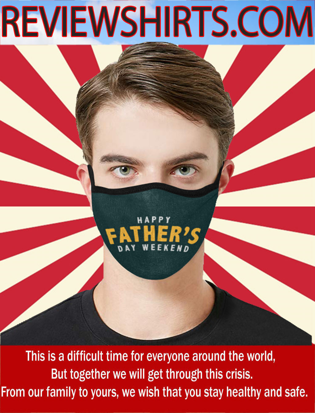 Mouth-Muffle Face Mask Father's Day Adjustable Washable Anti-dust