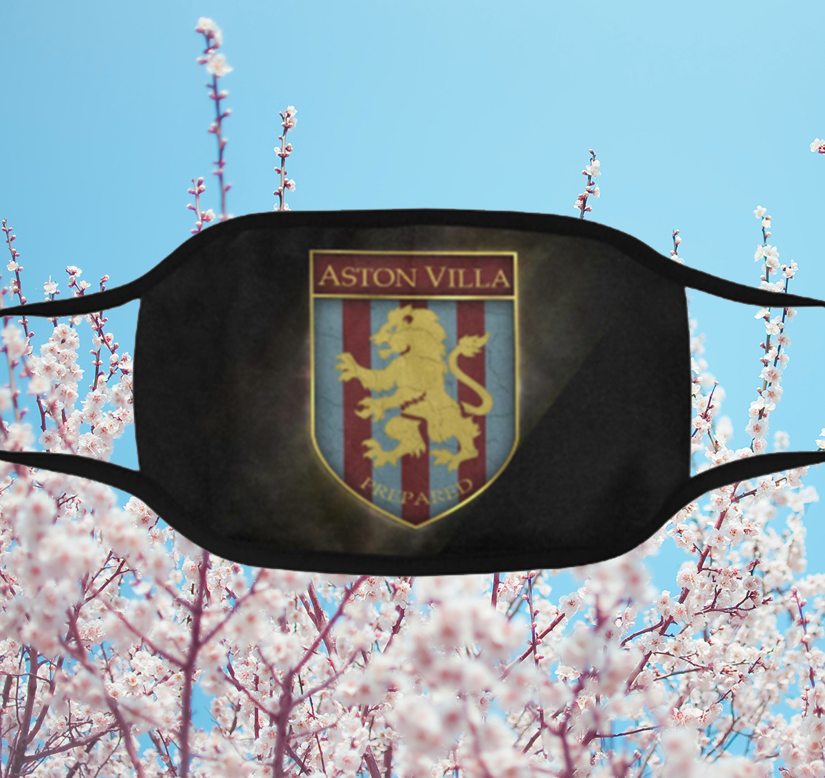 2020 Aston Villa Club Football Face Mask