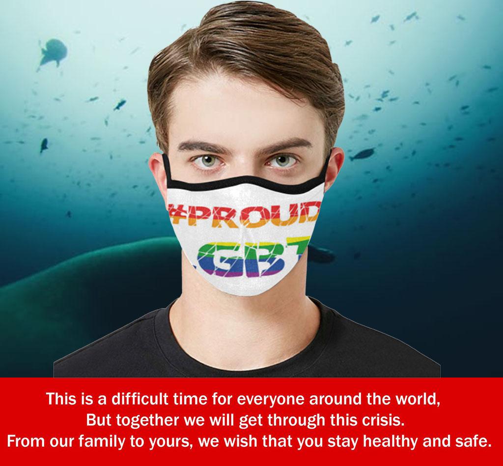 #Proud LGBT Cloth Face Mask