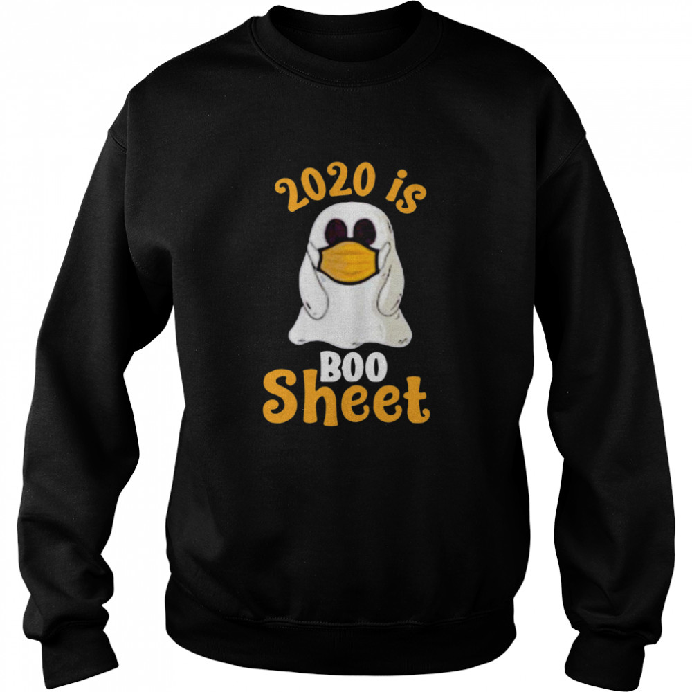 2020 Boo Sheet Ghost In Mask Halloween  Unisex Sweatshirt