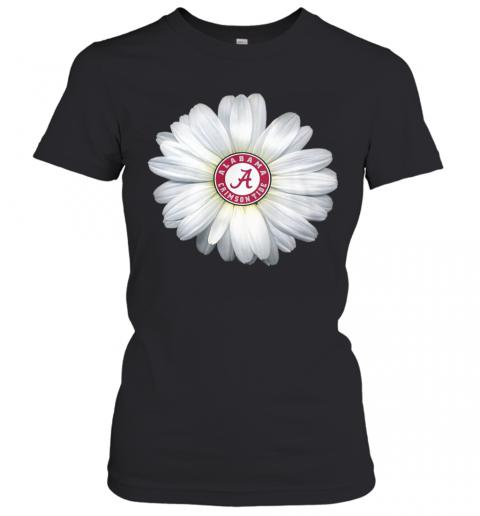 Alabama Crimson Tide Daisy Flower T-Shirt Classic Women's T-shirt