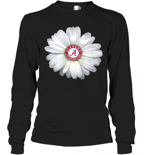 Alabama Crimson Tide Daisy Flower T-Shirt Long Sleeved T-shirt