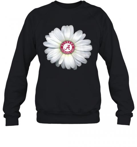 Alabama Crimson Tide Daisy Flower T-Shirt Unisex Sweatshirt