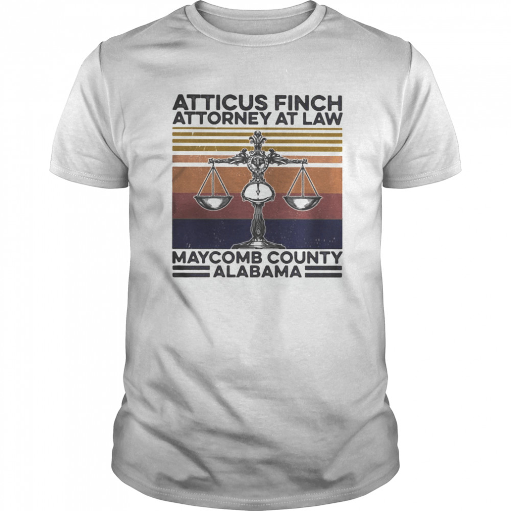 Atticus finch attorney at law maycomb alabama vintage  Classic Men's T-shirt