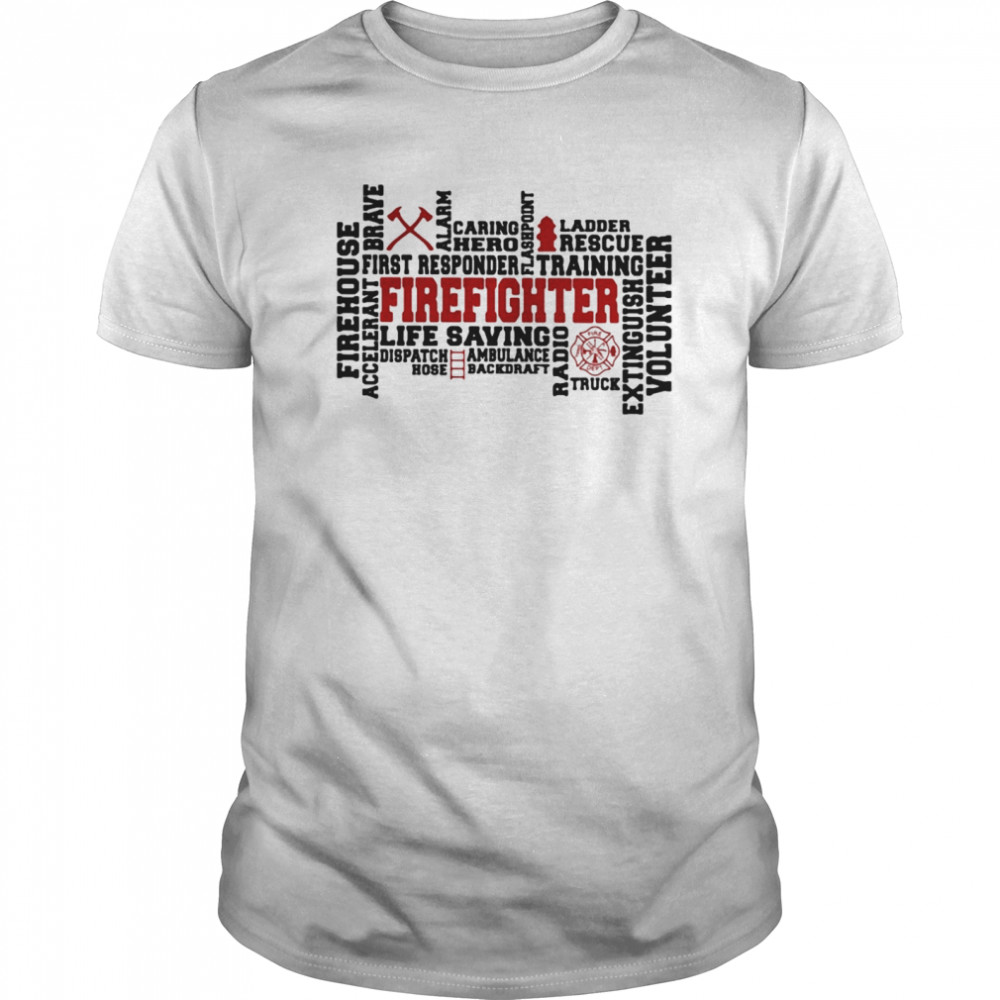 Firehouse Braye Firefighter  Classic Men's T-shirt