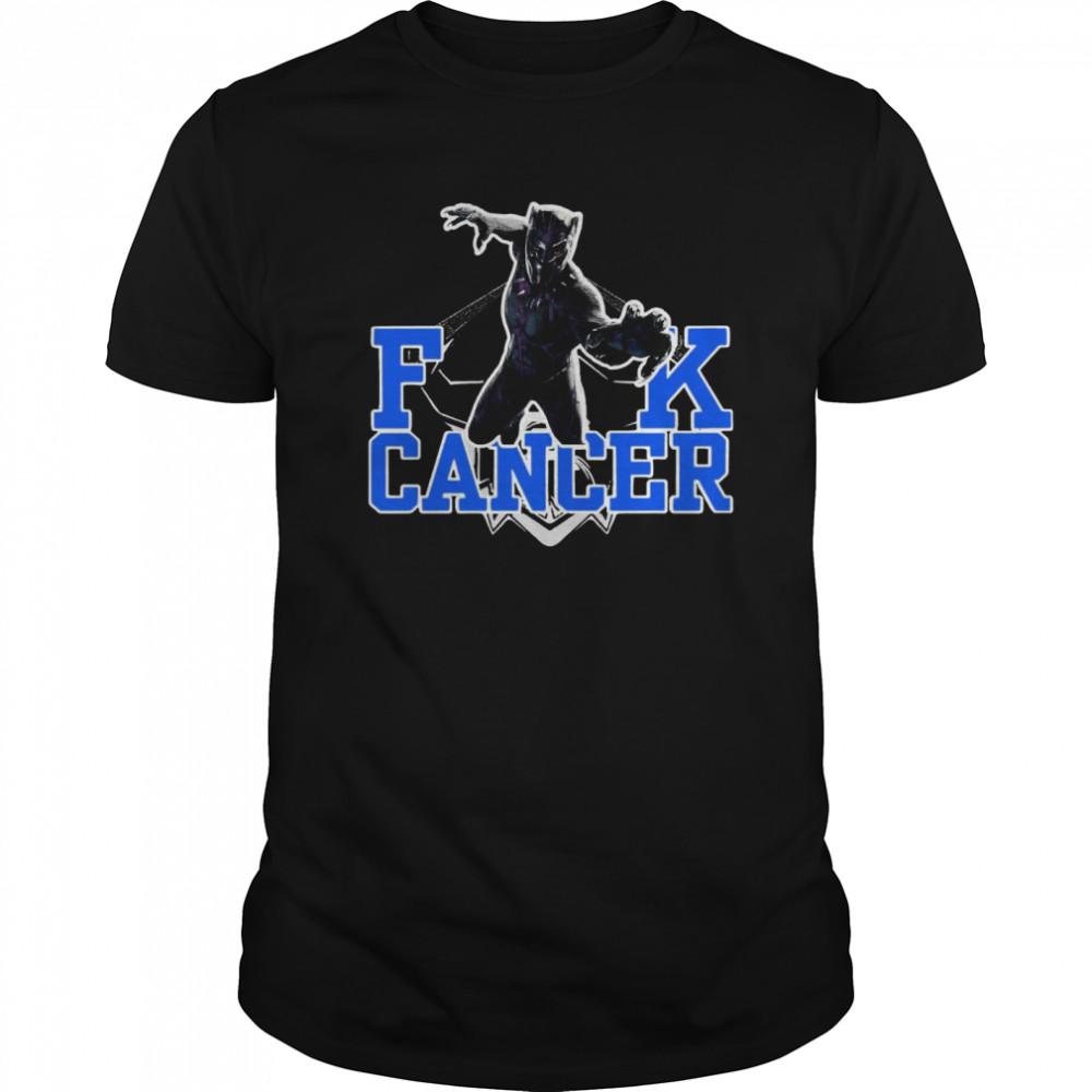 Fuck Cancer Rip Black Panther Chadwick Boseman  Classic Men's T-shirt