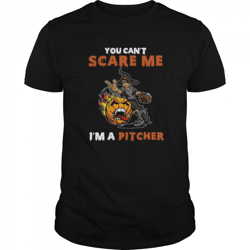 You Can't Scare Me I'm A Pitcher  Classic Men's T-shirt