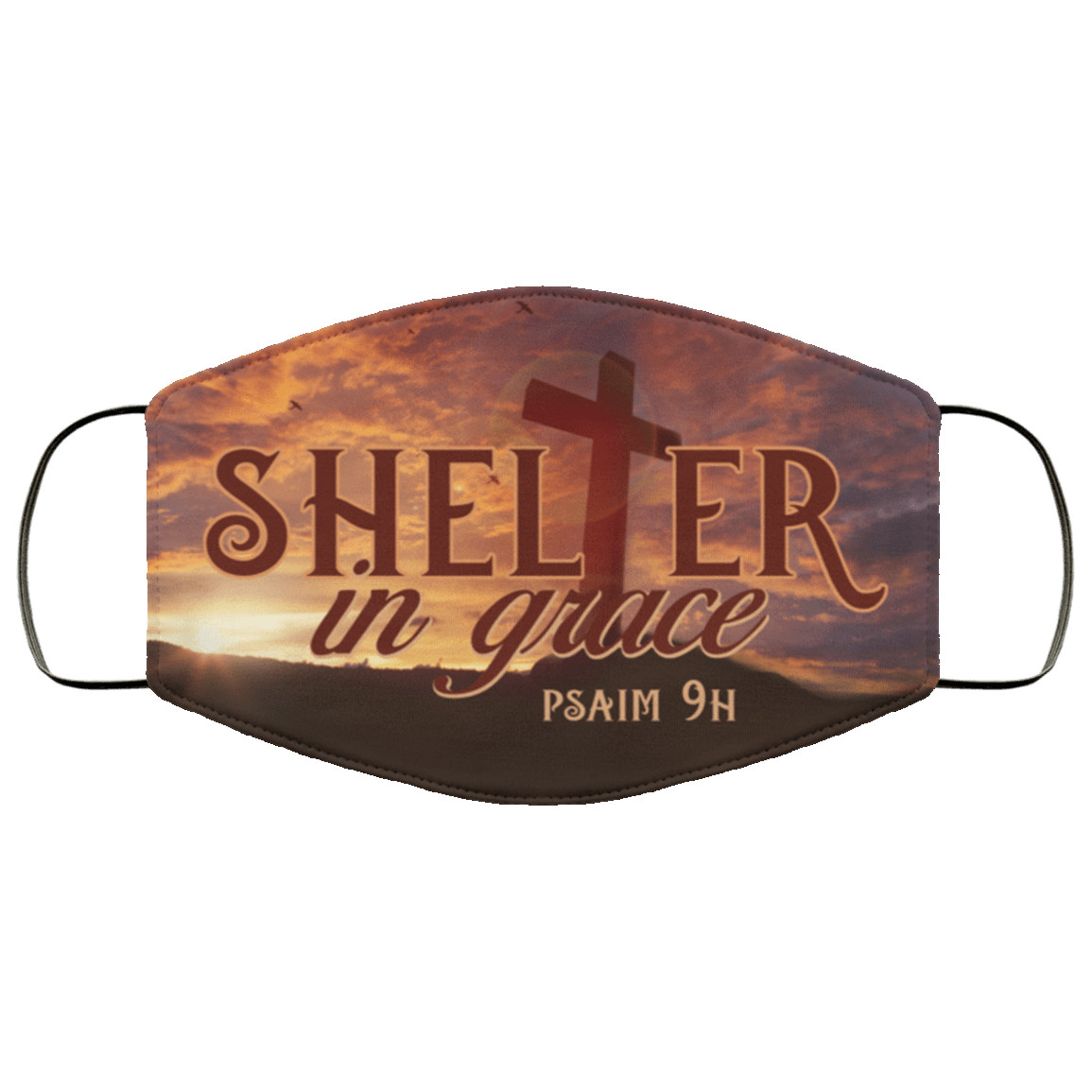 Shelter In Grace Psalm 91 1 Washable Reusable Custom  Printed Cloth Face Mask Cover Reusable machine washable