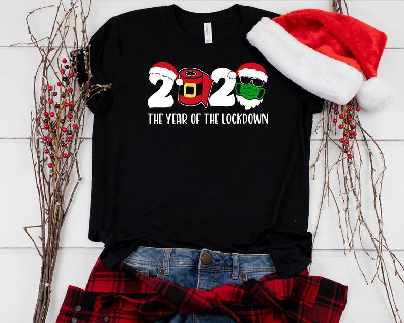 Funny Christmas Shirt, Christmas 2020 Shirt, 2020 The Year Of The Lockdown Shirt, Quarantine Christmas Shirt, Family Christmas Matching Tee