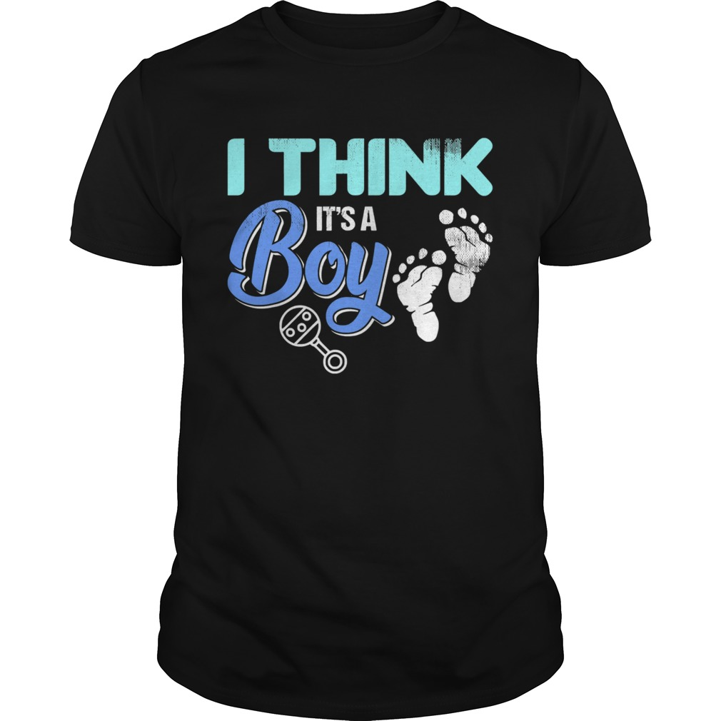 Gender Reveal I Think Its A Boy Baby Shower Party  Unisex