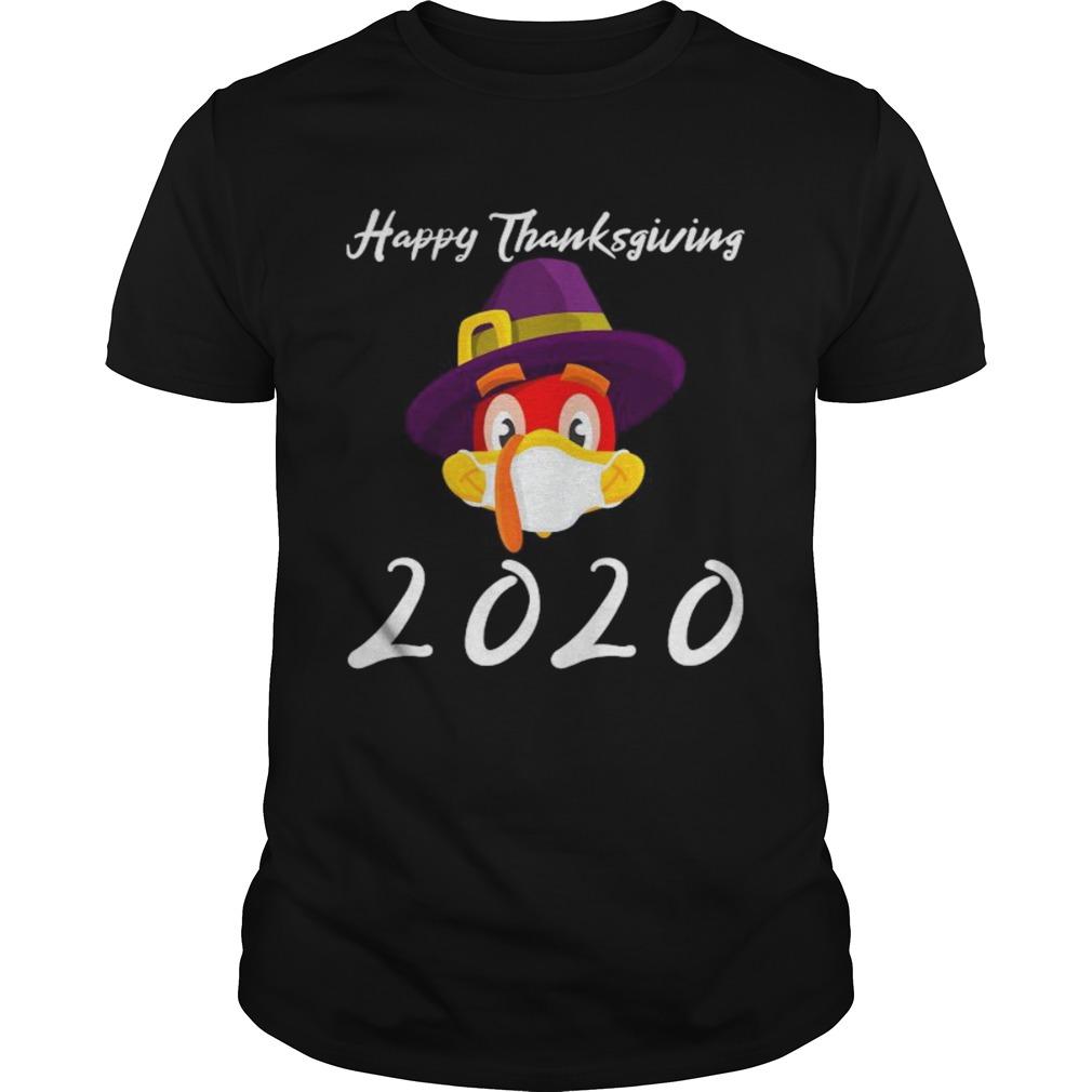 Happy thanksgiving 2020 turkey wearing mask  Unisex