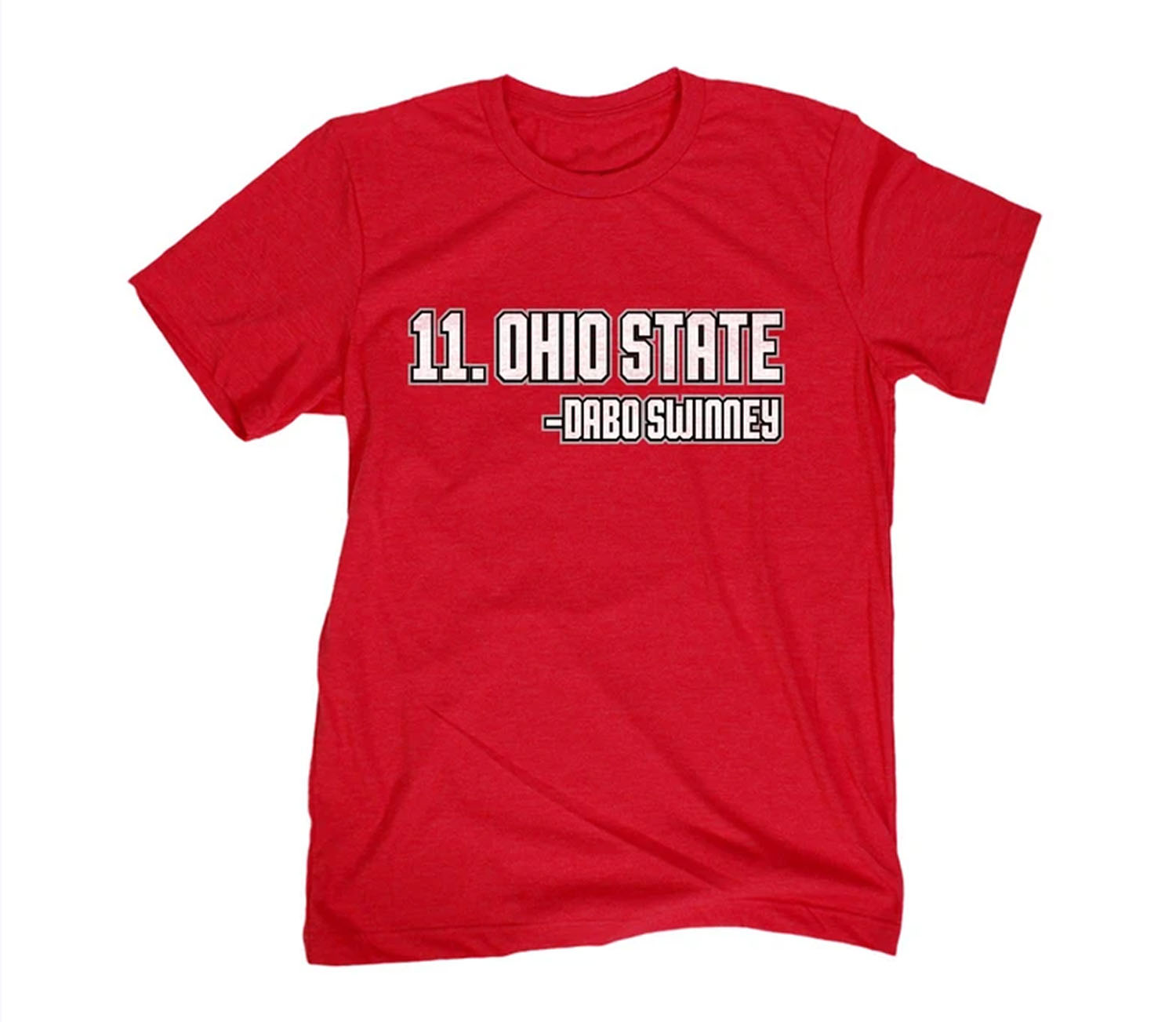 #11 OHIO STATE - DABO SWINNEY RANKED TEE SHIRT