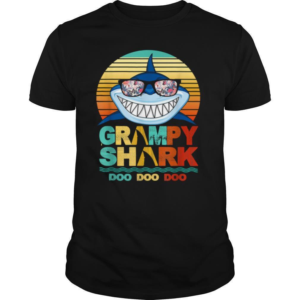Grampy Shark Doo Doo Doo Wear Sunglasses Vintage shirt