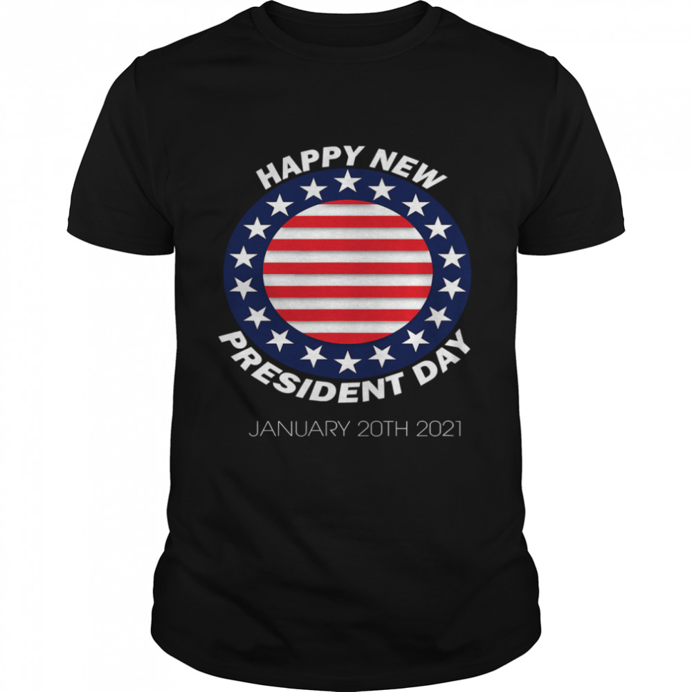 Happy New President Inauguration Day American Flag  Classic Men's T-shirt