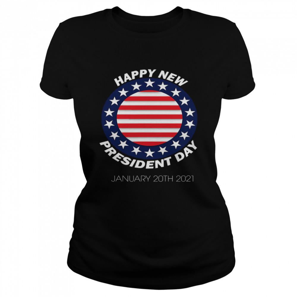 Happy New President Inauguration Day American Flag  Classic Women's T-shirt