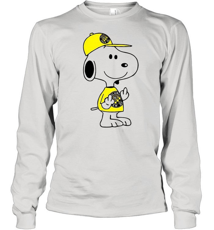 Snoopy Columbus Crew SC MLS Double Middle Fingers Fck You  Long Sleeved T-shirt