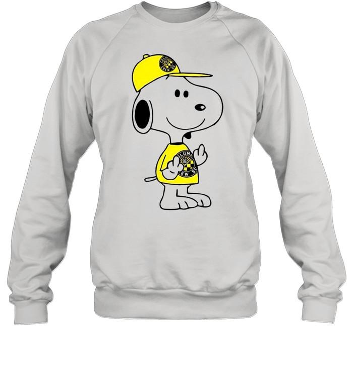 Snoopy Columbus Crew SC MLS Double Middle Fingers Fck You  Unisex Sweatshirt