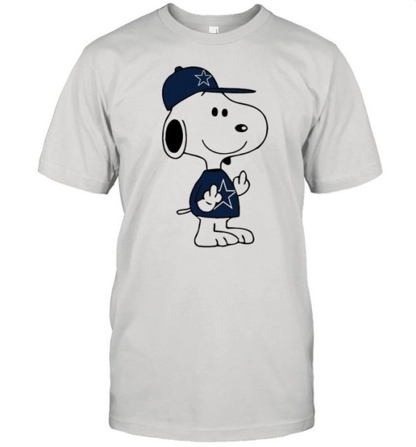 Snoopy Dallas Cowboys NFL Double Middle Fingers Fck You  Classic Men's T-shirt