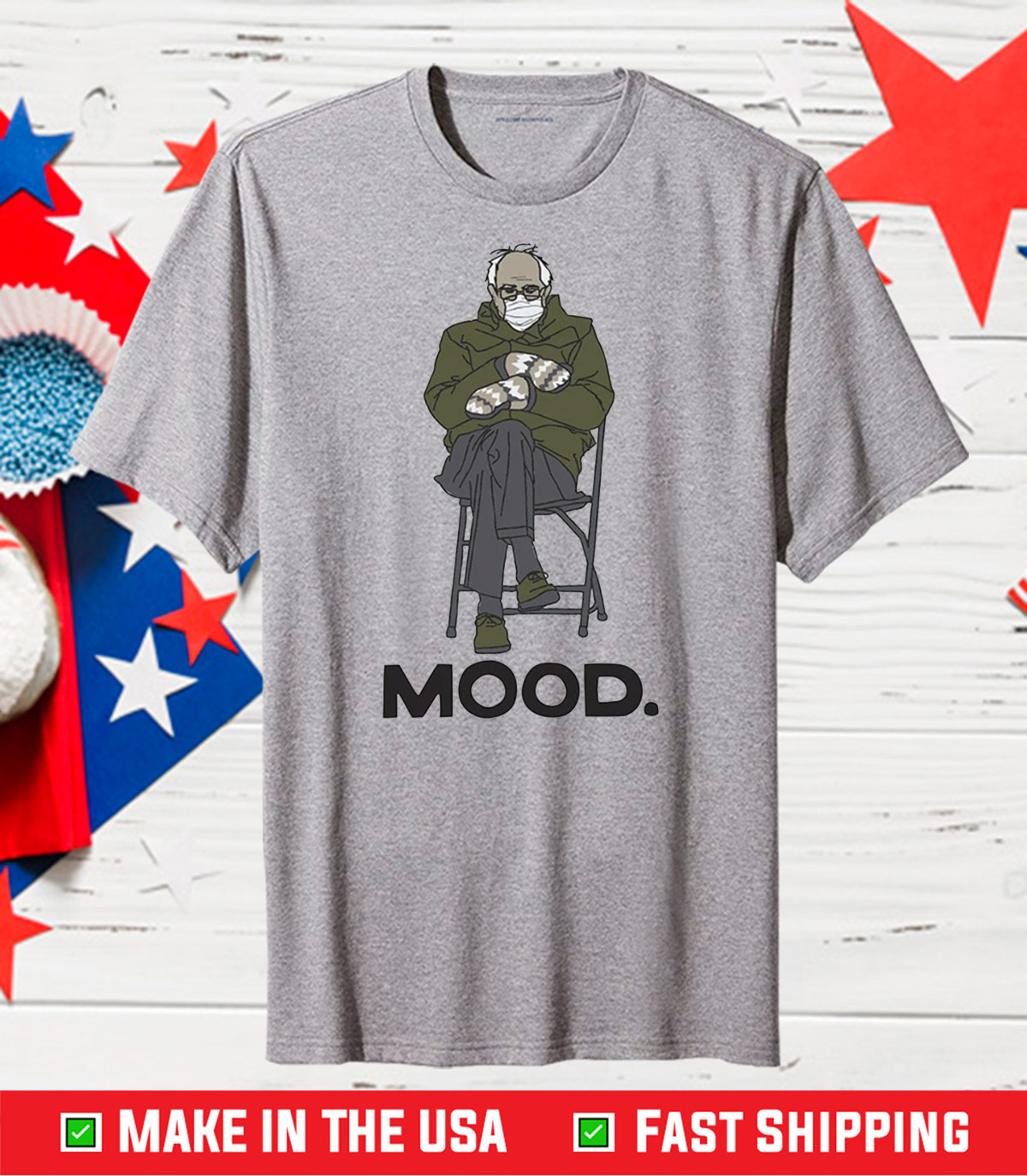 Bernie Sanders Mood Classic Tshirt