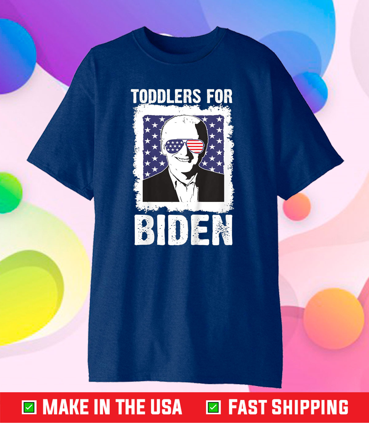biden harris 2020 shirt Toddlers for Biden Unisex T-Shirt
